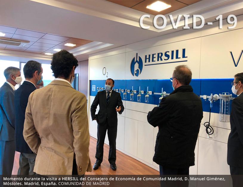 La Comunidad de Madrid apoya la internacionalización de las pymes HERSILL y FESA