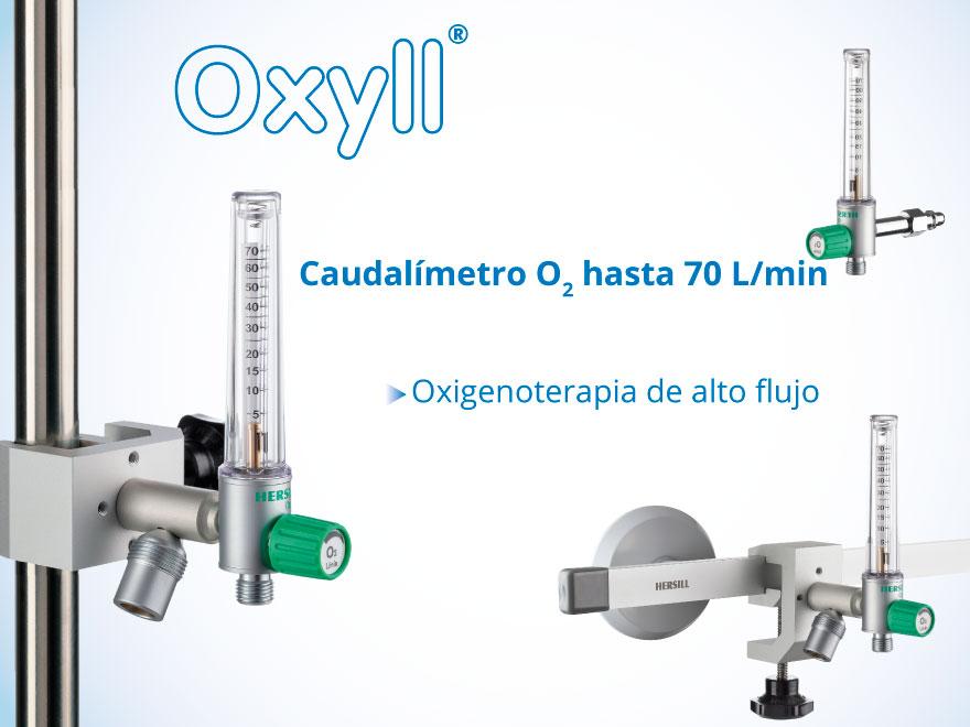 NUEVO Caudalímetro Oxígeno OXYLL 70 L/min – Oxigenoterapia de alto flujo