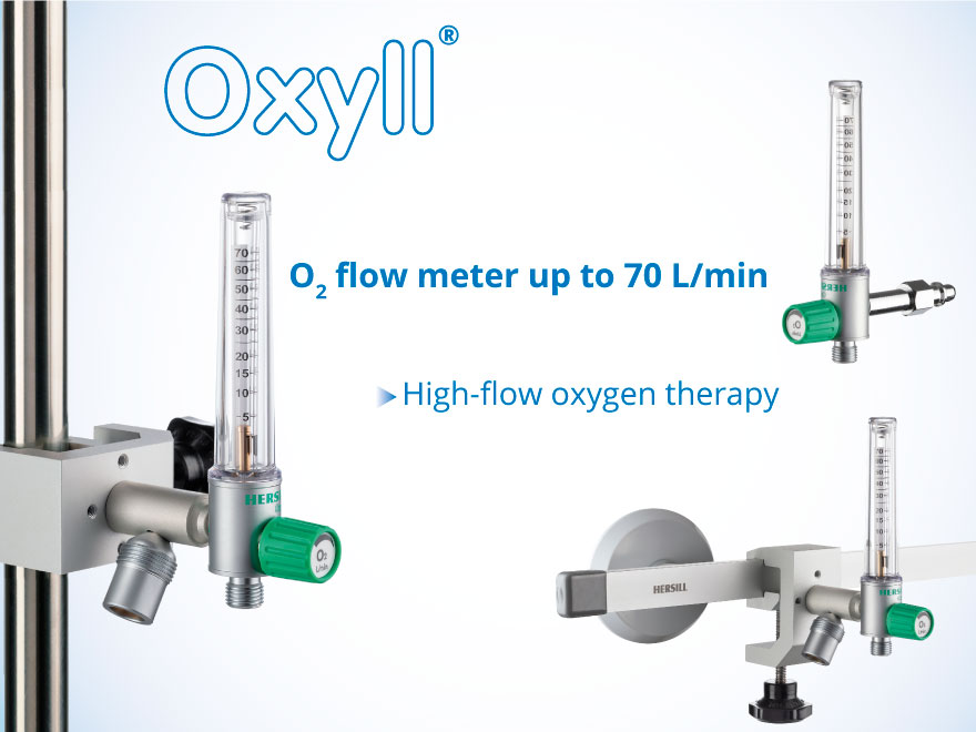NEW OXYLL Oxygen Flowmeter OXYLL 70 L/min – High Flow Oxygen Therapy