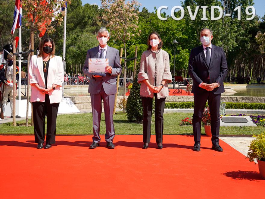 HERSILL en homenaje a los héroes del COVID-19 en el Dos de Mayo de Móstoles, Madrid